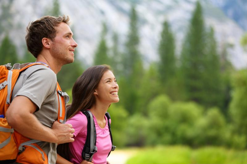 couple hiking, hiking, California, Southern California