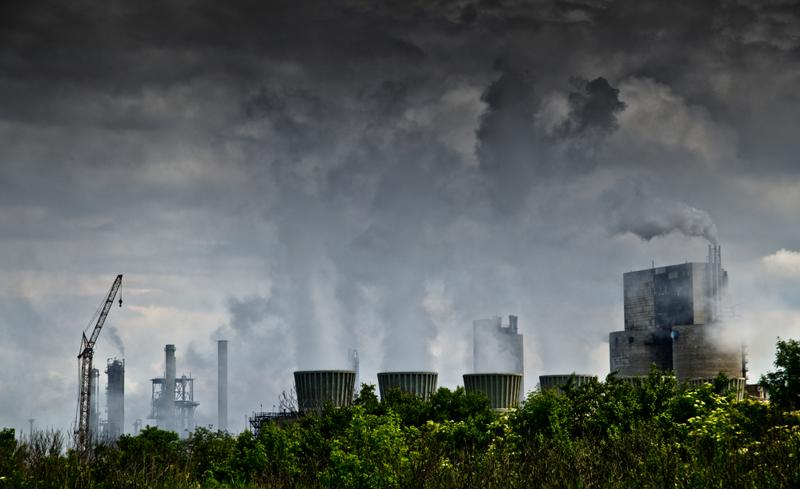 Factories pour out pollution