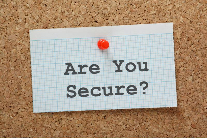 "A note that says ""are you secure?"""