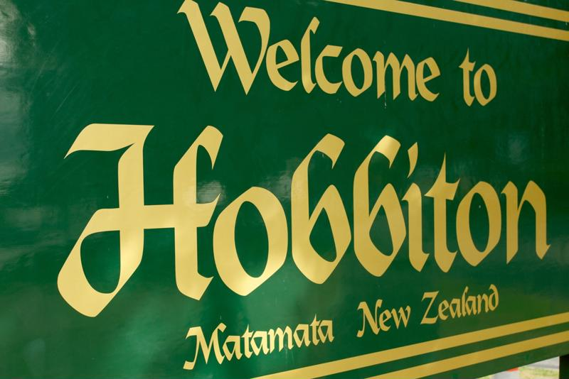 Welcome to Hobbiton signage.