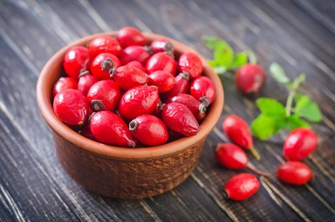 Rosehip is loaded with vitamin C.