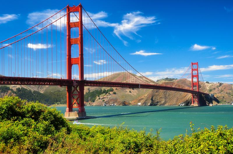 Enjoy views of the Golden Gate Bridge from your hotel room.
