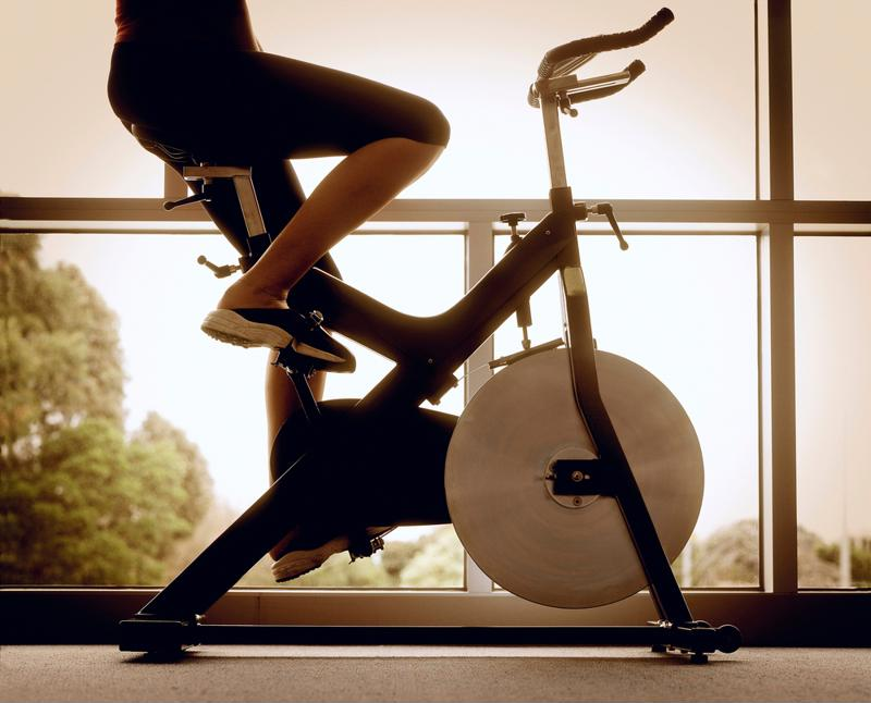 If you want a good indoor bike workout try taking a class.