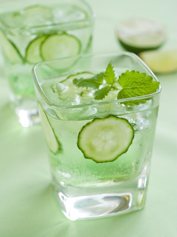 Cucumbers are an excellent garnish and flavor in many spring and summer cocktails.