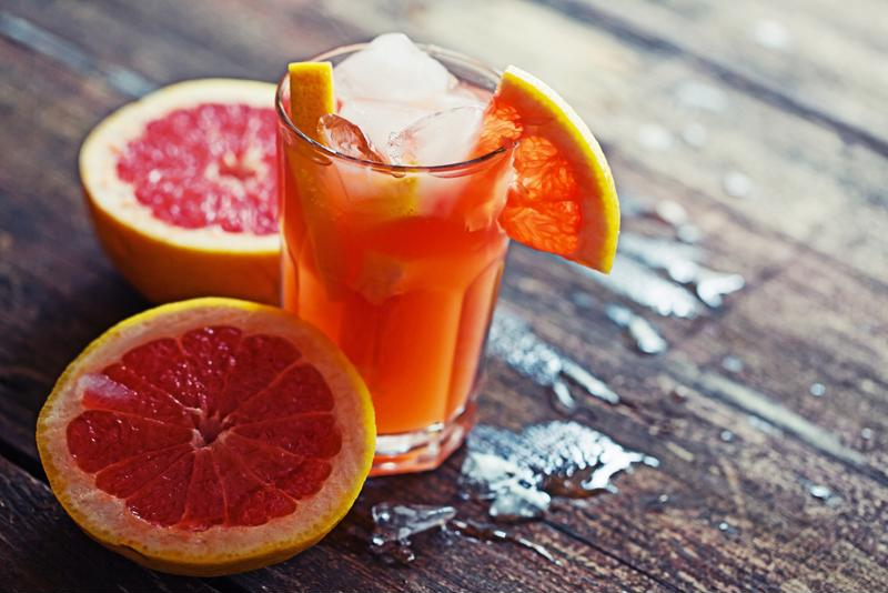 Don't just focus on limes and oranges - grapefruits are a great garnish.