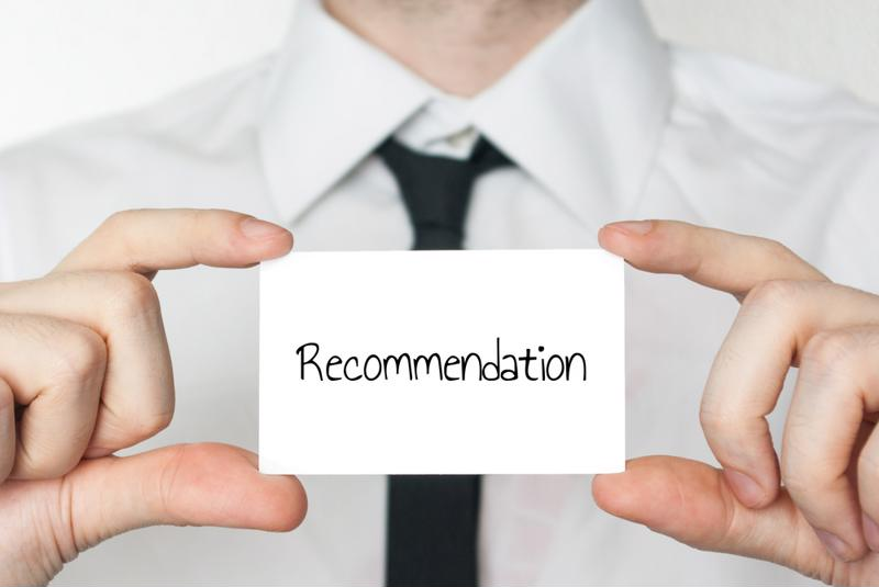 Word-of-mouth recommendations are important to customers.