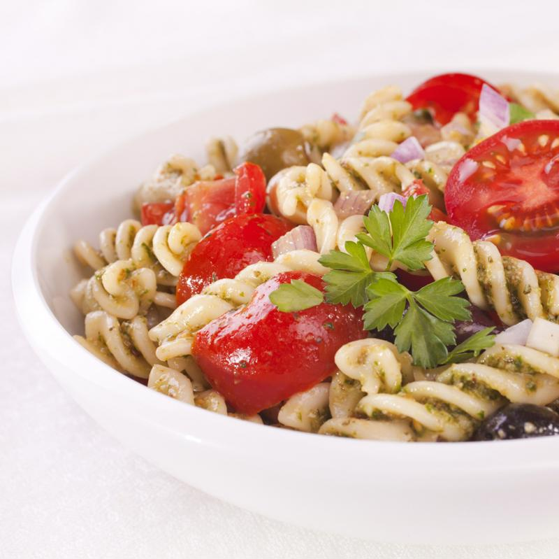 Bring homemade pasta salad on your trip.