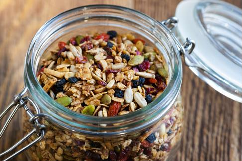 Add goji berries to your granola for sweetness.