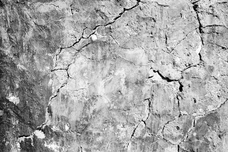 Cracked concrete.