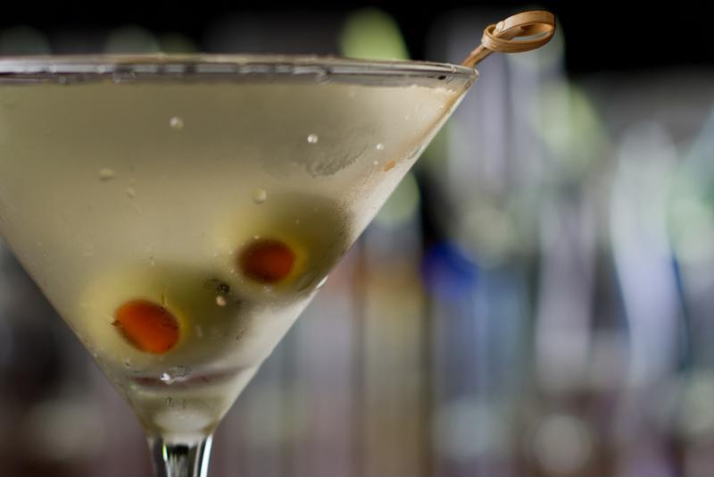 You can use olives or lemon peels in your martinis depending on the taste you prefer.