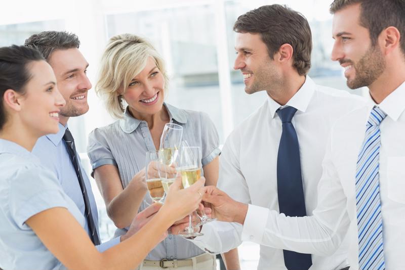 An office party should be refined and enjoyable, not overly rambunctious.