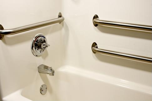 Install grab bars in your shower.