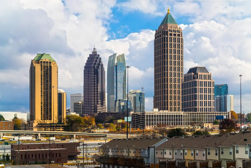 As the capital and largest city in Georgia, business is bustling and the population is surging in Atlanta.