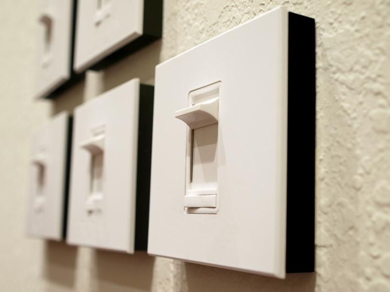 Dimmer switches are a cost effective option for variable task lighting.