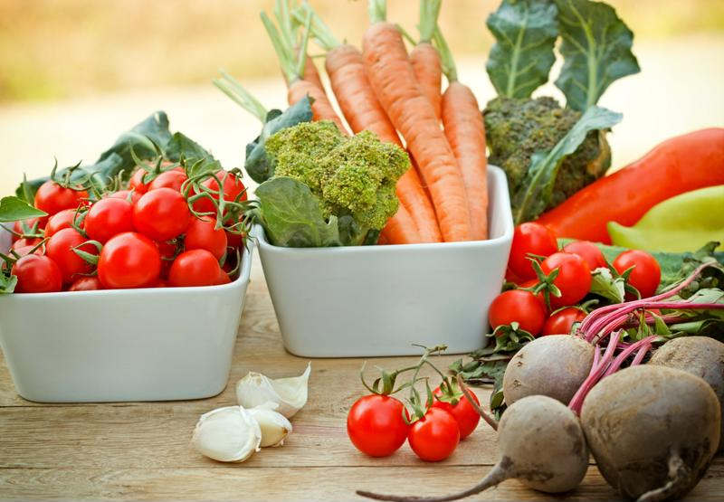 Consume a diet that focuses primarily on raw vegetables.