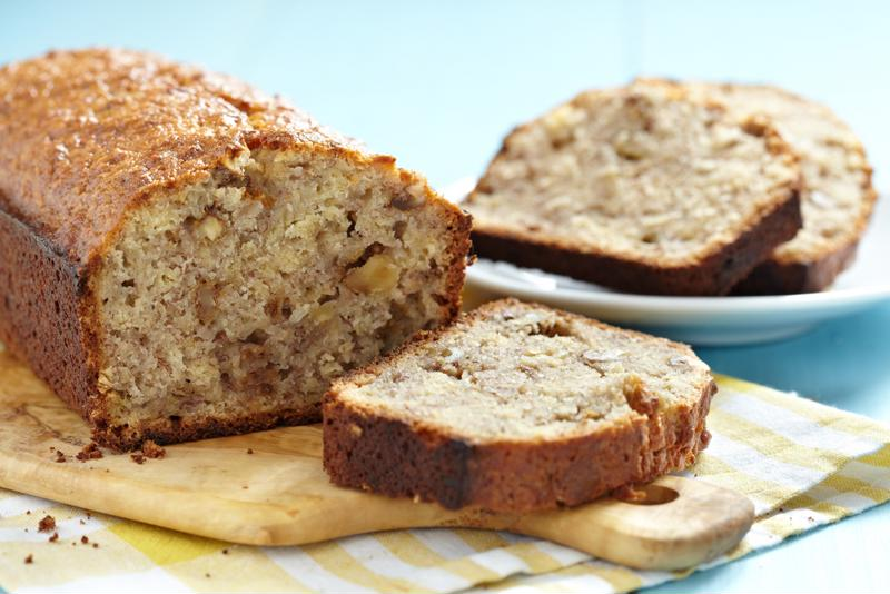 Cranberry bread is made even better with walnuts.
