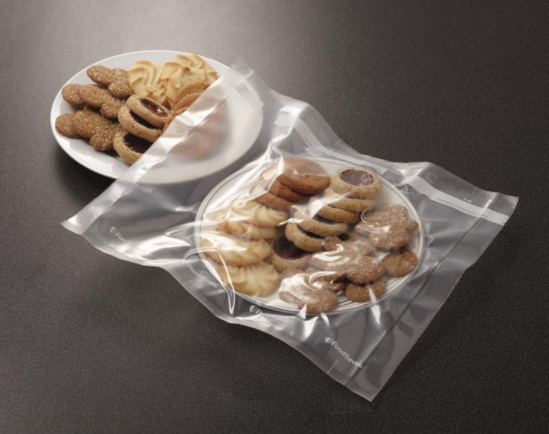 Those homemade cookies will stay fresh for about a week without a tight vacuum seal.