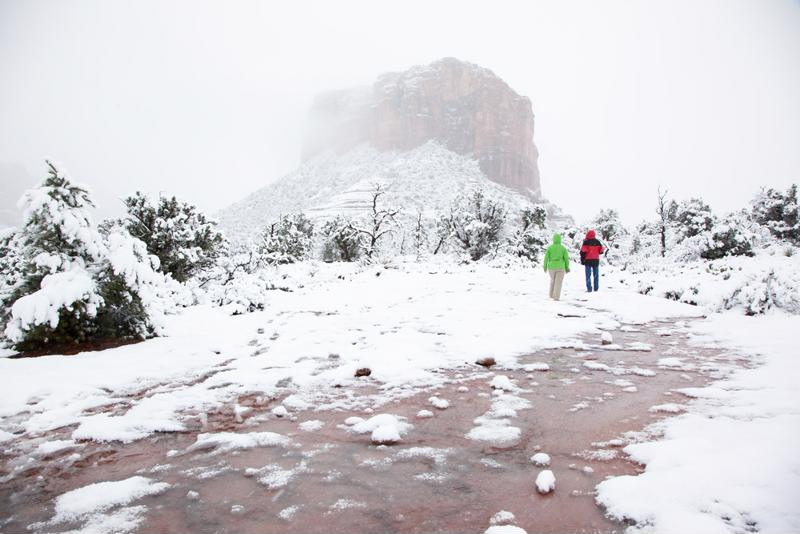 Even the desert is not immune to an occasional snow storm.