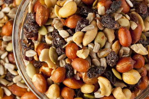Homemade trail mix makes a healthful and satisfying snack.