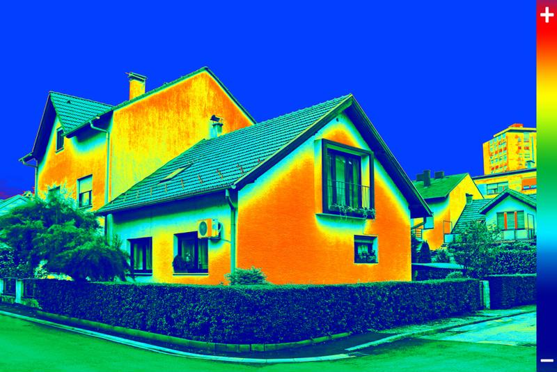 Infrared radiation data can discover problems in a building or home.