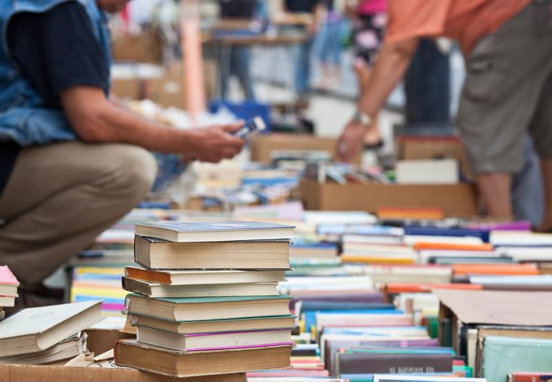 books, book sale, reading