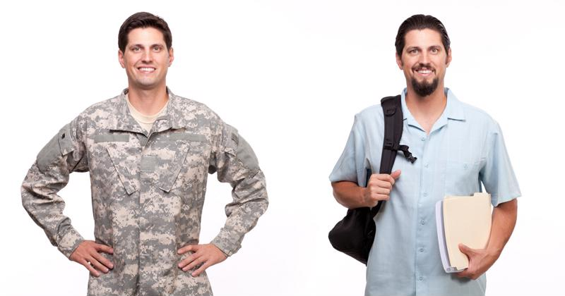 Transitioning from the battle field to the lecture hall is a struggle for many veterans.