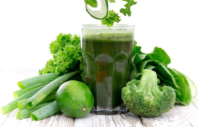 Green juice can provide you with potassium.