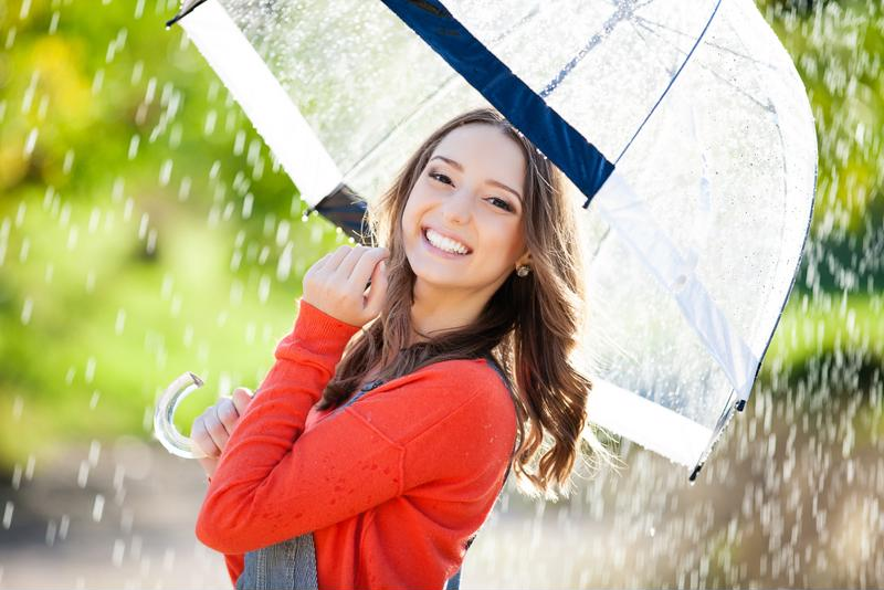 When the forecast calls for rain, don't be caught without your umbrella!