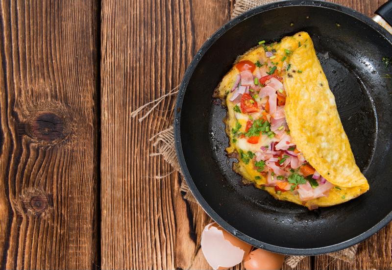 Toss an omelette on your waffle for a full meal.