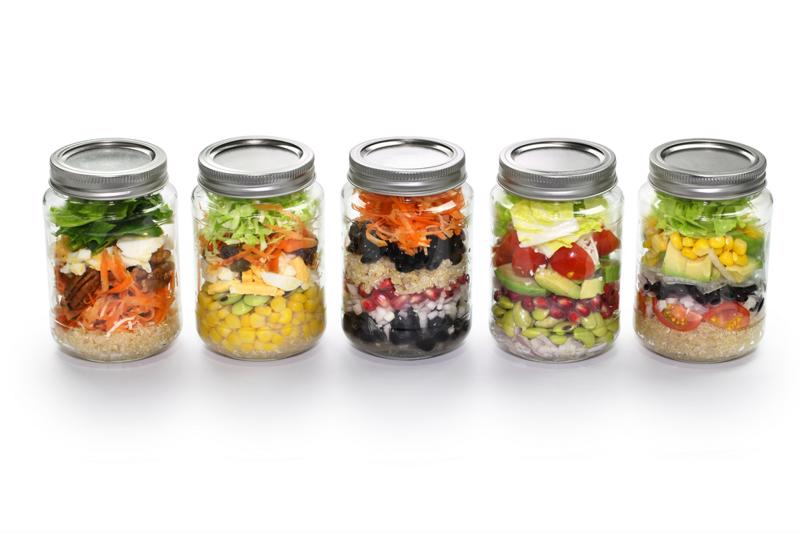 There are dozens of jar salad recipes you can make based on what you like.