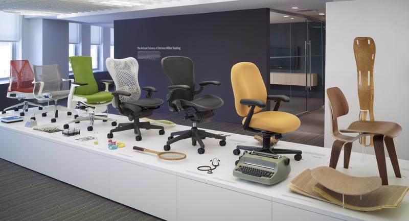 Office Designs carries a wide selection of high-quality office chairs, such as the Herman Miller Eames line.