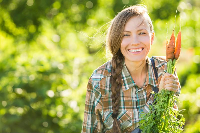 Gardening can stay active and eat healthy at the same time.