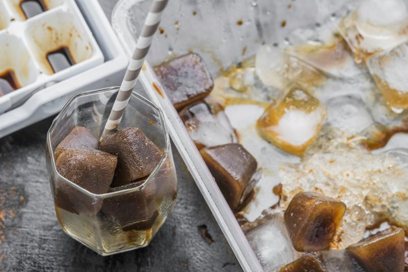 Use coffee cubes for an extra strong flavor.
