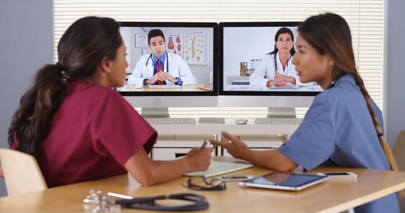 Health care is helping to lead video conferencing's rise.