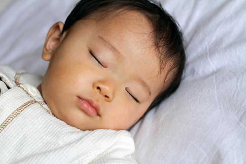 Help ease your infant off to dreamland with a white noise app or a lullaby app.