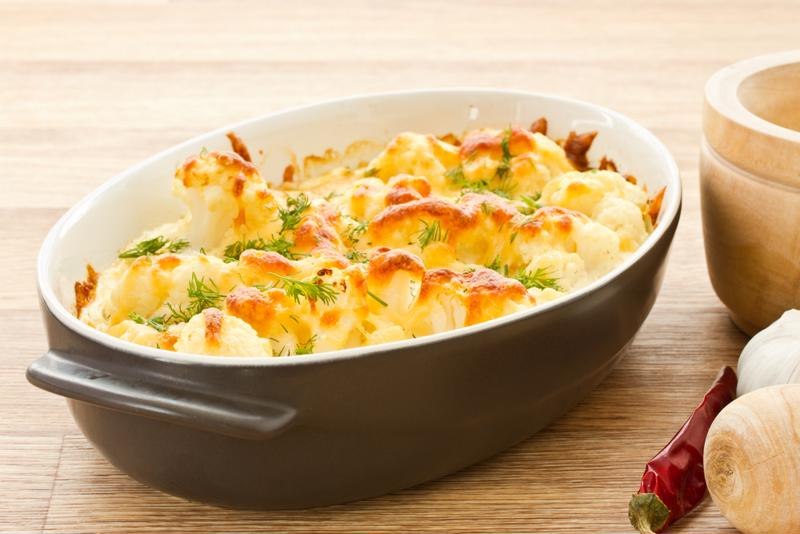 Cauliflower mac and cheese is a tasty alternative to the traditional dish.