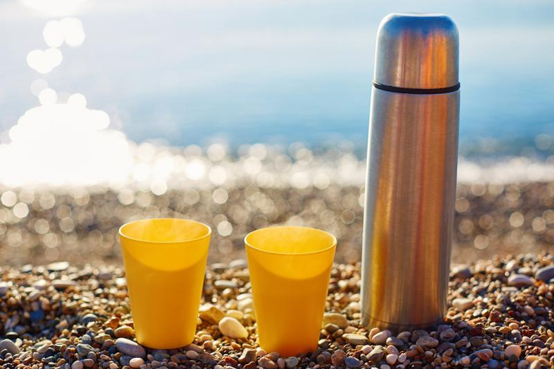 Pour coffee into a thermos to keep it protected from the heat.