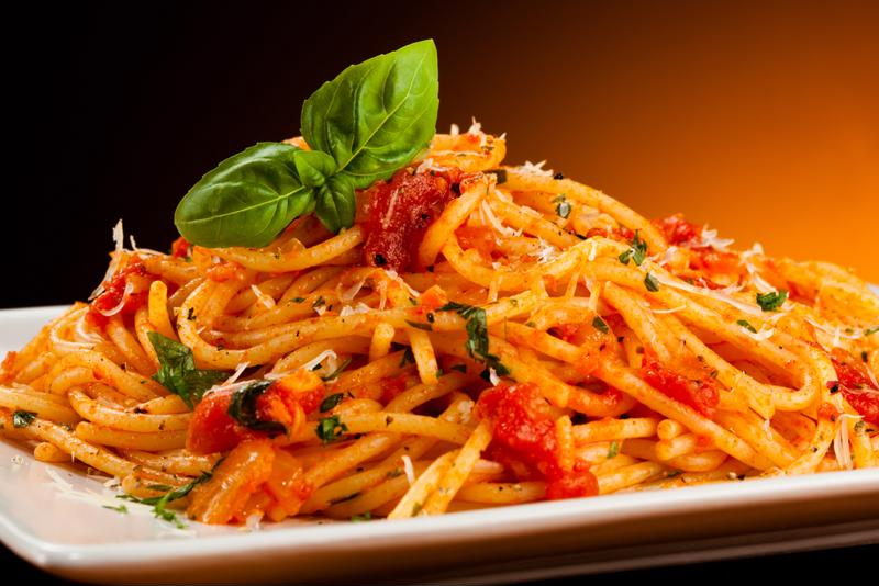 Homemade tomato sauce slow cooked for hours delivers an unbeatable rich and zesty flavor.