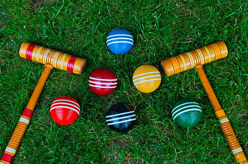 Entertain your guests with lawn games.