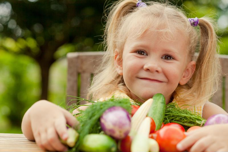Let your children pick out their favorite veggies for the pesto wraps!