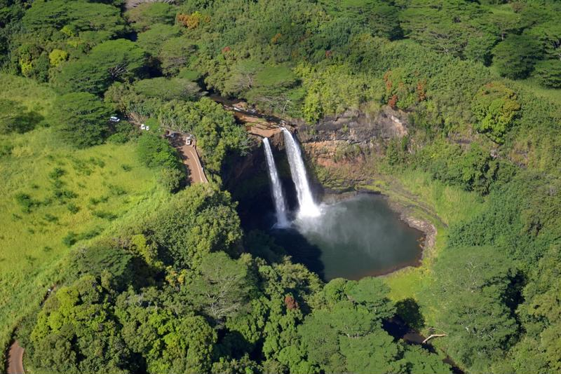 The Wailua Falls are a breathtaking sight Kauai.
