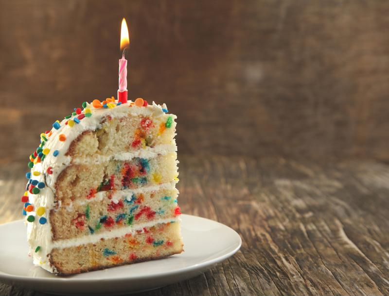 Mix multi-colored sprinkles into your cake batter before baking for a festive look.