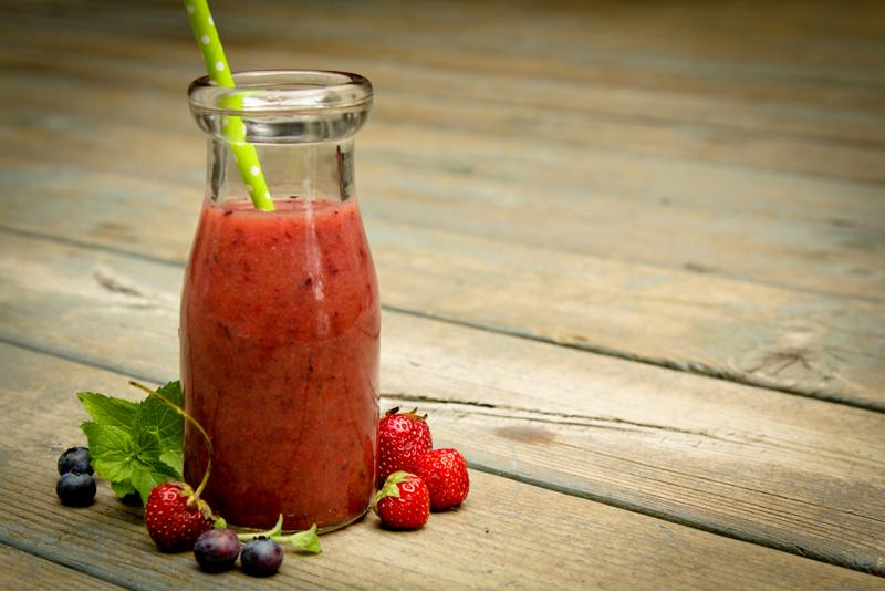 Use a creative glass for your berry daiquiri.