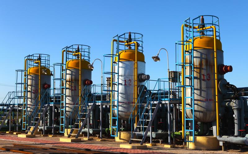 Oil and gas processing plant.