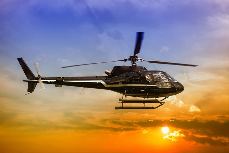 Helicopter tours provide the most scenic opportunity to get a bird's eye view of downtown Las Vegas.