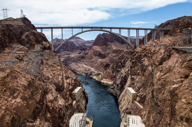 Hoover Dam is one of the iconic sightseeing attractions just outside of Las Vegas.