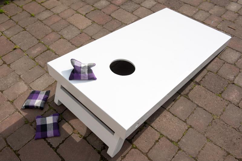 Bean bag toss is easy to setup and fun to play.