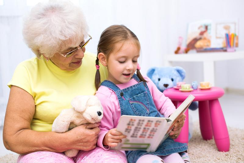 Seniors can help children learn to read.