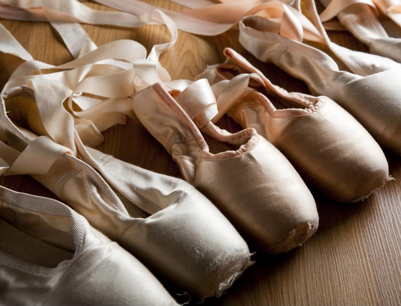 Store your pointe shoes in your dance bag.