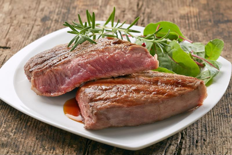 Peppered steak is cooked to perfection in your slow cooker.